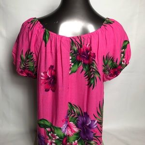 Aloha Fashion Tops - Aloha Fashion Women's Hawaiian Floral Top